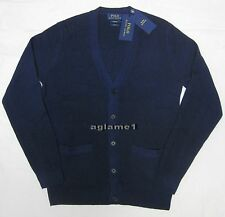 $425 NEW POLO RALPH LAUREN 100% cashmere CARDIGAN SWEATER L Slim Fit