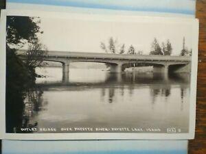 VINTAGE POST CARD AERIAL VIEW OUTLET BRIDGE PAYETTE  LAKE IDAHO