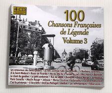 100 CHANSONS FRANÇAISES DE LEGENDE volume 3 . 4 CD