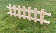 More details for wooden panel picket fencing - wood garden border fence! new product! 4pcs