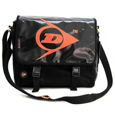 Dunlop Courier Messenger Bag Canvas & PVC Black #52