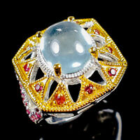 Aquamarine Ring Silver 925 Sterling Fine Art Size 6.75 /R128249