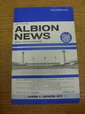 13/03/1965 West Bromwich Albion v Leicester City  (Crease, Score Noted On Cover)