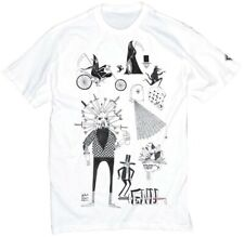 GNU snowboard skateboard surf REAPER TEE-SHIRT mens SMALL WHITE NEW in package