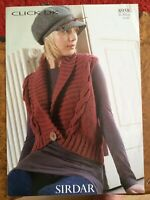 Womens knitting patterns.cardigans.size 32-42 inch bust.DK.Sirdar.cable pattern