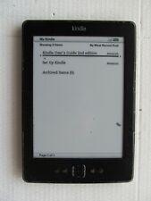 "Amazon Kindle D01100 Wi-Fi 6"" E Ink Display 2GB BLACK MARKS inc VAT 004C"