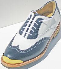 Vecci New Men Classic Bari Leather Gold Toe Golf Shoe/  SMRP$370