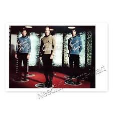 Star Trek mit DeForest Kelley, William Shatner, Leonard Nimoy Autogrammfoto  