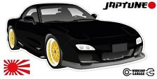 Mazda RX-7 Series 6  - Black with Gold Rims - JDM Twin Turbo  - JapTune Brand
