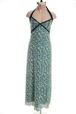 nwt $138 studio m long green halter maxie dress size medium