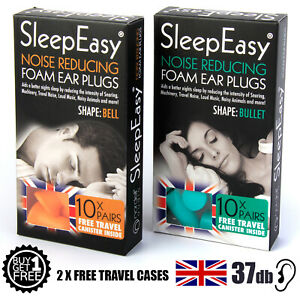 Best Ear Plugs for Sleeping Snoring Musicians Travel 37dB Bell or Bullet Shape