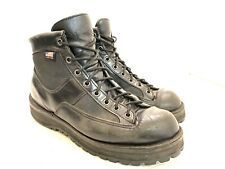 """Danner Patrol Boots 6"""" Black Leather Gore-Tex Made in USA Size 8.5 EE 25200"""