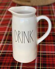 New listing New! Rae Dunn - Drink Pour Pitcher Decanter - White Ceramic Ll Lemonade Tea