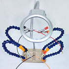Third Hand Soldering Magnifying Glass With LED Light Helping Tool Kit