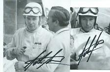 John Surtees (+) Ex F1 Driver (1960-1972) 2 x Hand Signed Portrait Photo Cards
