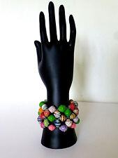 Handmade in Kenya Paper Beads Elastic Bracelet