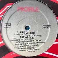 Run-DMC King Of Rock Vinyl Record Original Hip Hop 1985