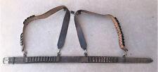 Vintage Leather Ammunition Cartridge Belt