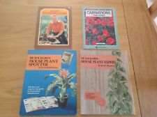 4 x  GARDENING BOOKS. (Propagating & Houseplants & Carnations + pinks) JOB LOT