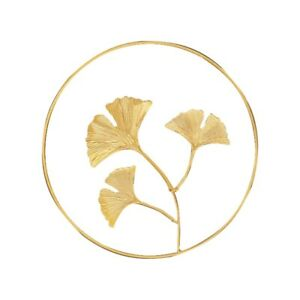 Wall Decoration Pendant Nordic Style Wall Hanging Wrought Ginkgo Leaf Wall Decor