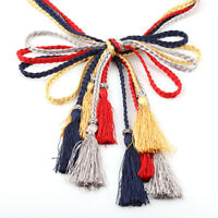 UK Tassel Belt Fashion Ladies Braided Belt Self-Tie Thin Waist Rope