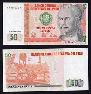 Perù 50 intis 1987  FDS/UNC  B-01