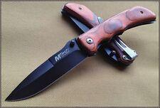 MT408 Couteaux Gentleman Farmer Mtech Lame Acier 440 Manche Bois