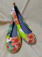 👠 Mudd Classic Slip Ons size 7.5 M Flower Multi-Color Print Fabric