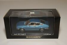 A2 1:43 MINICHAMPS AUDI 100 COUPE S 1969 - 1975 METALLIC BLUE MINT BOXED