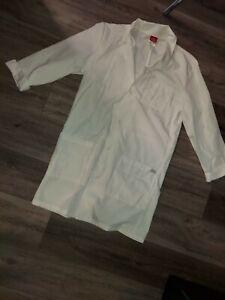 EUC Dickies Unisex Labcoat White Size Small Style #83402