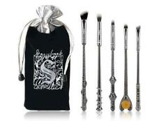 NEW 5pc BLACK METAL Harry Potter Wizard Wand Vanity Makeup Brush Set - US SELLER