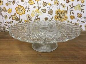 xF29014 Vintage Glass Cake Stand Tazza Platter Number 1