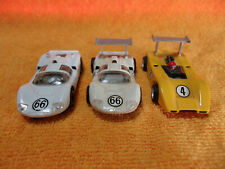 Vintage TYCO SLOT CARS SET OF 3 McLAREN-CHAPARRAL  TYCOPRO     NICE!