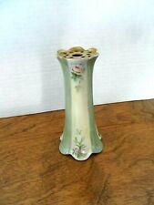 """Antique 1879-1912 Belleek Willets Porcelain Hat Pin Holder~Hand Painted ~ 5 1/4"""""""