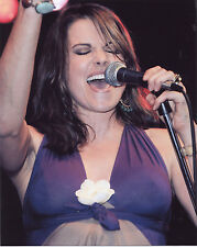 Xena Lucy Lawless singing 8x10 photo photograph from Europe