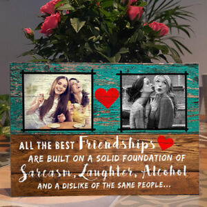 Personalised Photo, Best Friend Gift,Funny Friendship, Self-standing Plaque Sign