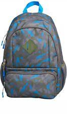 """Kids' Backpack Camo 17"""" - Cat & Jack Blue Grey Green multi pocket bottle holder"""