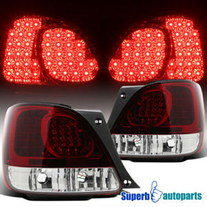 For 1998-2005 Lexus GS300/GS400 Red LED Tail Light Rear Brake Lamps Pair
