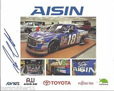 """SIGNED 2015 ROSS CHASTAIN """"AISIN AW HATTORI"""" #18 NASCAR TRUCK SERIES POSTCARD"""