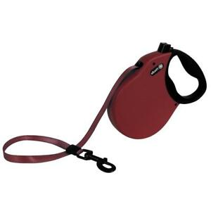 alcott Expedition Retractable Leash 24' - Red - Up to 65lbs Flat Belt No Cords