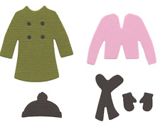 """Quickutz  4pk-2x2-0002 """"Paper Doll Winter Clothes"""" NEW"""
