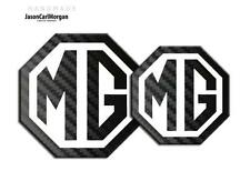 MG Badge Inserts TF Front Grill Rear Boot Badges 70/90mm 2009 Black Carbon/White