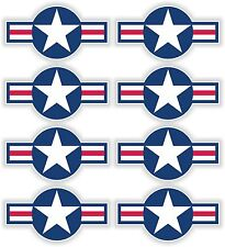 United States Airstar 8x Blue Stickers Air force Helmet Motorcycle Bumper Door