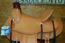 "16"" G.W. CRATE WADE RANCH ROPING SADDLE FREE SHIP NEW MADE IN ALABAMA USA"