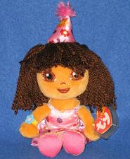 TY DORA - HAPPY BIRTHDAY - NEW BEANIE BABY - MINT with MINT TAG