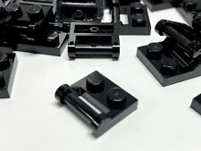 LEGO Lot of 32 Plate 1X2 W. Stick 3.18 4225201 48336 Black