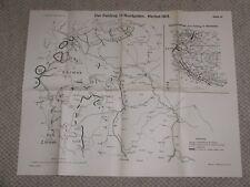 Landkarte Der Feldzug in Nordpolen Herbst 1914 1.WK Karte IV.
