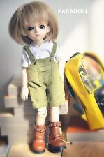 Light Green Bib Pants for BJD Girl/Boy 1/8 1/6 YOSD 1/4 MSD Doll Clothes CWB77