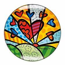 "Romero Britto: original Goebel Glasschale ""A NEW DAY"", 36 cm, neu & 1. Wahl"