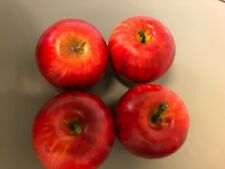 4 Artificial Red Baby Apple